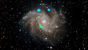 Green blob in galaxy.