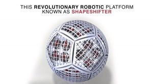 """A metallic-looking sphere with hints of robotic """"guts."""""""