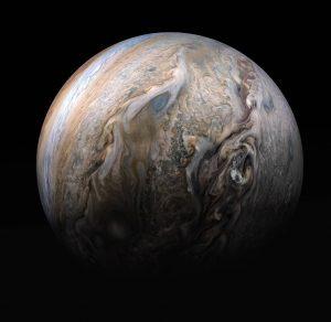 View of Jupiter's cloudtops.