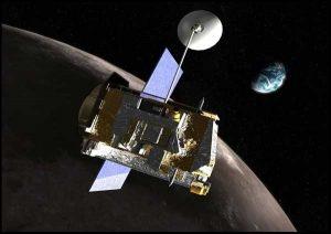 Spacecraft near the moon.