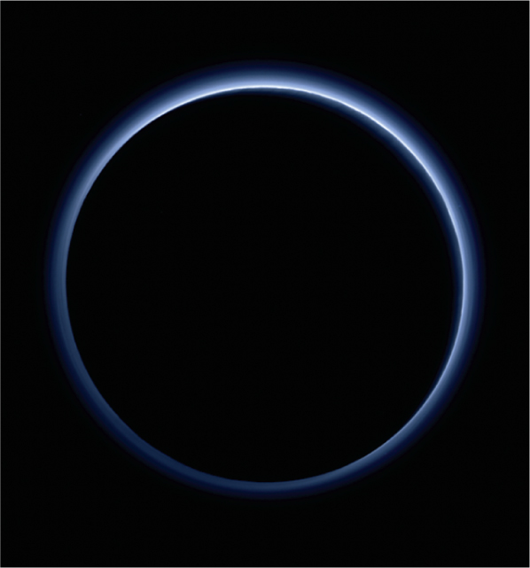 Blue hazy ring with black background.