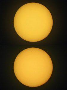 Double image of Mercury transit.