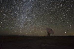 Array and circular star trails.