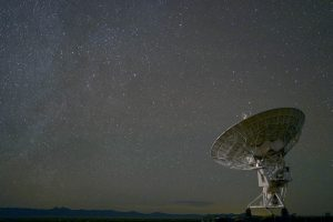 Array against background of a starry sky.