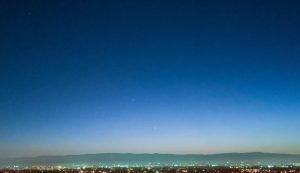 Venus, Jupiter and Saturn in a twilight sky.