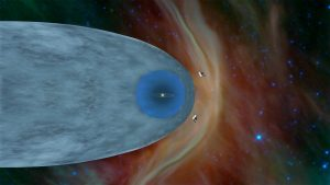 Artist's concept of the Voyagers outside the heliosphere.