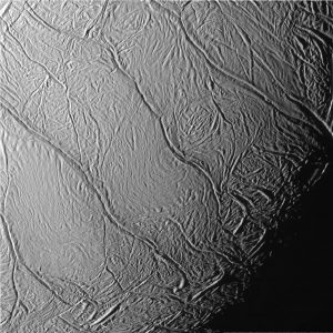 Long cracks in gray-colored surface.