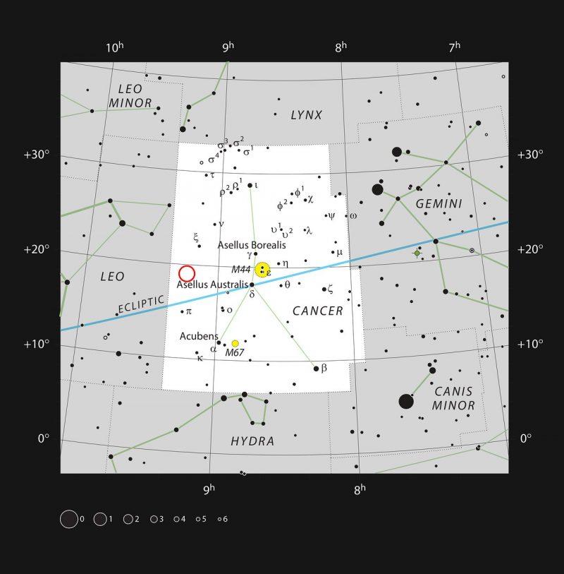 Map of stars.