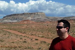 Smiling man with mesa in background.