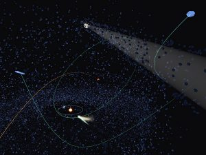 Artist's concept of interstellar comets.