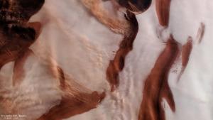 Ice at Mars' north pole.