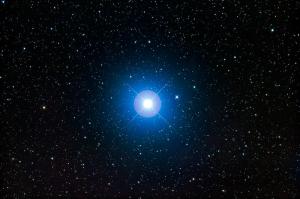 A bright, blue-white star.