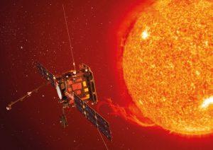 A spacecraft near the sun.