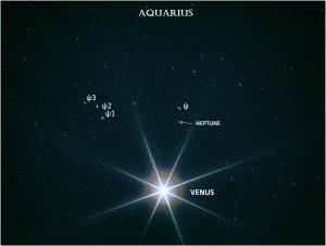 Very bright Venus and very faint Neptune.