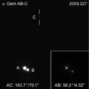 An image showing Castor A, B, and C.