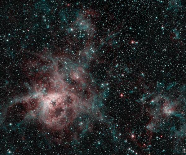 Tarantula Nebula seen through the eyes of Spitzer
