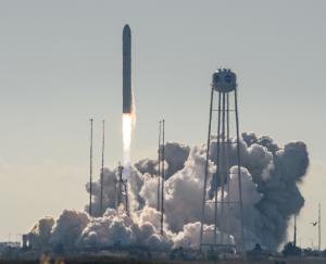 Rocket launching.