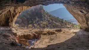 Excavation site at Shanidar Cave.