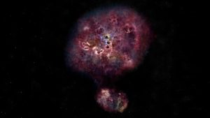 Artist's conception of what XMM-2599 looked like when it was in its star formation phase.