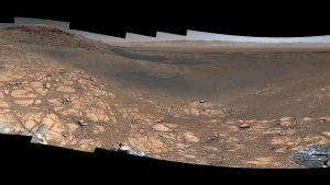 Red-brown rocky landscape.