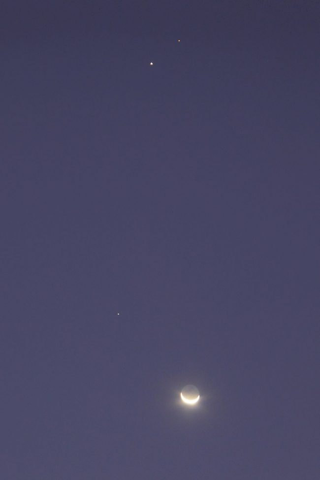 Moon and planets.