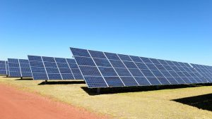 Photo of a solar power plant.