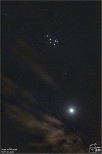 Venus and Pleiades.