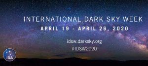 Poster for International Dark Sky Day 2020.