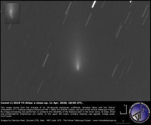 A second telescopic view of Comet ATLAS.