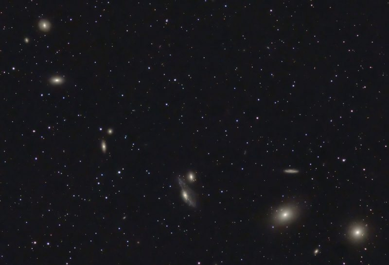A string of galaxies.
