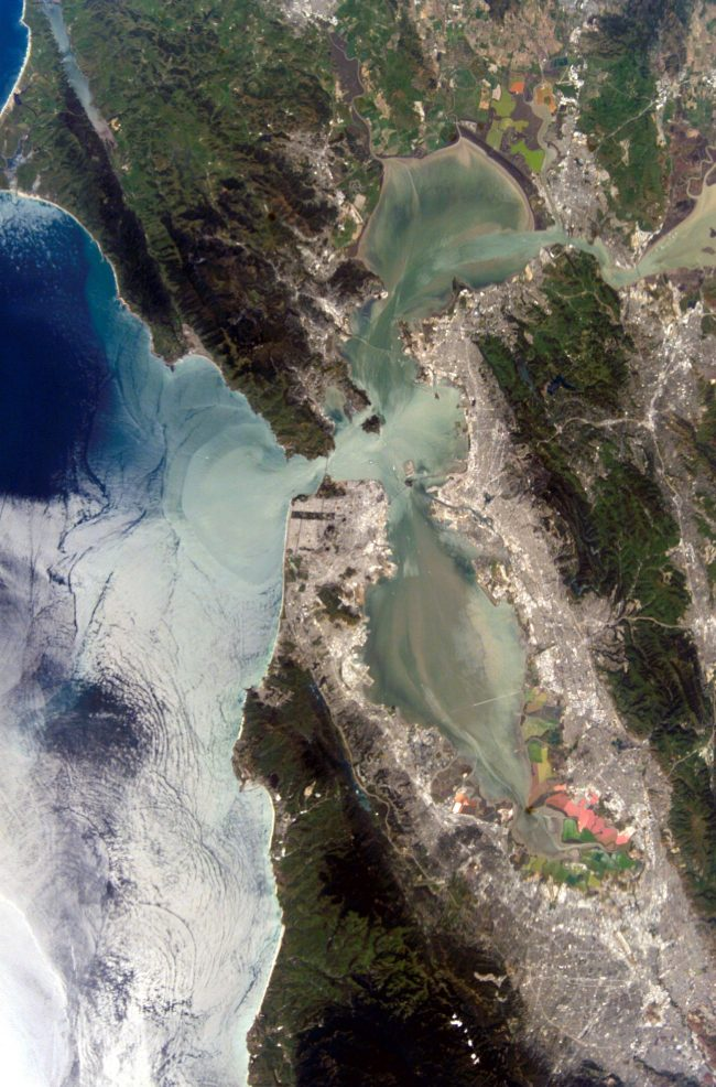 San Francisco Bay, captured by an astronaut in an early ISS mission, Expedition 4.