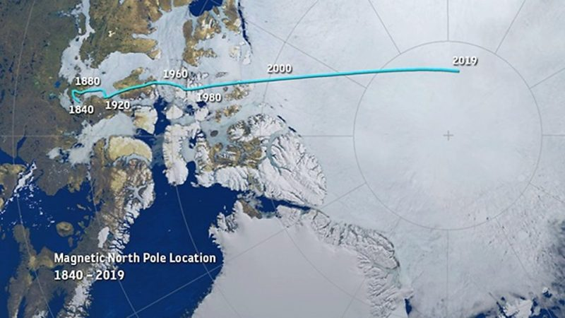 Why Is Earth S Magnetic North Pole Drifting So Rapidly Earth Earthsky