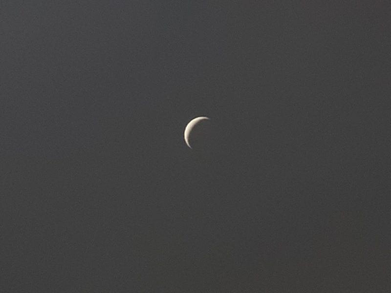 Sharp, thin crescent Venus.