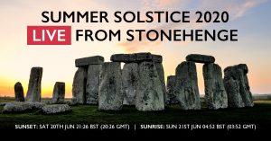 Solstice at Stonehenge - live online - poster.