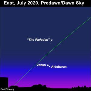 Venus adorns the eastern sky before sunrise in July 2020.