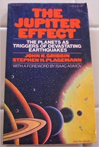1970's style cover of the book The Jupiter Effect.