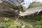 Picture of damage to Arecibo Telescope in August, 2020.
