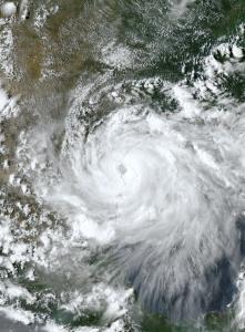 Hurricane Hanna at the Texas coast.
