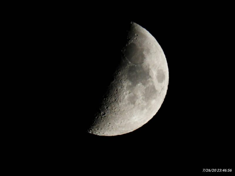 Near 1st quarter moon.