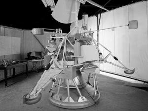 Model of an early lunar lander.
