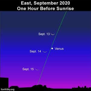 Moon and Venus adorn the morning September 13 to 15 thumbnail