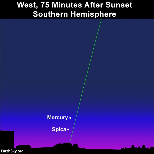 View of Mercury from the Southern Hemisphere.