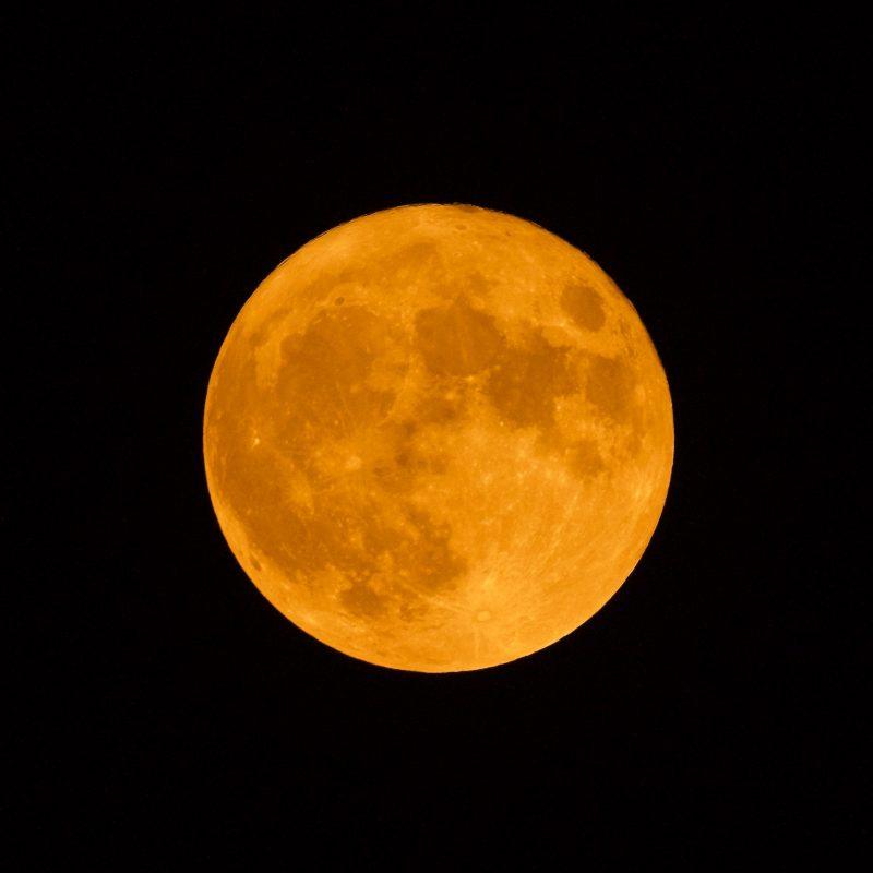 Big yellow moon.