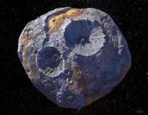 artist's conception of the asteroid Psyche