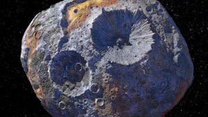 artist's conception of Psyche asteroid