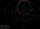 Orbital diagram showing inner planets (Mercury, Venus, Earth, Mars and asteroid 2000 WO107 on November 14, 2020.