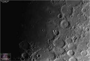 Rupes Recta, or The Straight Wall, is best found on 8 days past new moon when the terminator falls across it.