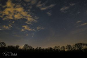 Composite image showing several meteors.