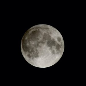 Penumbral eclipse of the moon.