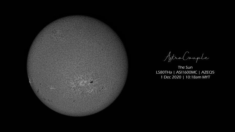 Sunspots on the December 1st sun.